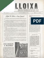 LLOIXA. Número 08, febrero/febrer 1982. Butlletí informatiu de Sant Joan. Boletín informativo de Sant Joan. Autor