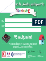 Diploma de Participant Campuri