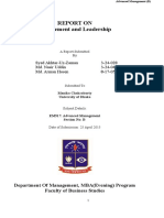 Management and Leadership AM(B)