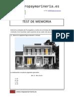 Tropa y Marinería - Ejemplo Test Memoria