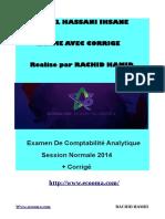 Exame Avec Corrige Comptabilite Analytique-el Hassani Ihsane-RACHID HAMID