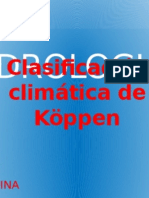 Clasificación Climática de Köppen