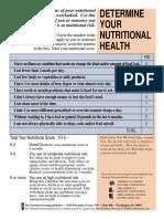 Nutritional Checklist