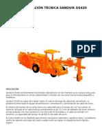 Especificación Técnica Sandvik Ds420 Español
