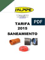 tarifa 2015 saneamiento valpipe