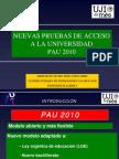 Nueva Prueba de Acceso a Enseñanzas Universitarias 2010_Actualización RD 558_2010