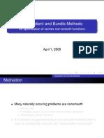 Subgradient and Bundle methods