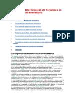 Partición y Determinación de Herederos en La Jurisdicción Inmobiliaria