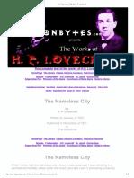 La Ciudad Sin Nombre - Lovecraft - Inglés