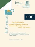 Convenición Internacional Sobre La Protección de Los Derechos de Todos Los Trabajadores Migratorios y de Sus Familiares
