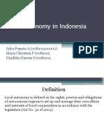 Decentralization in Indonesia