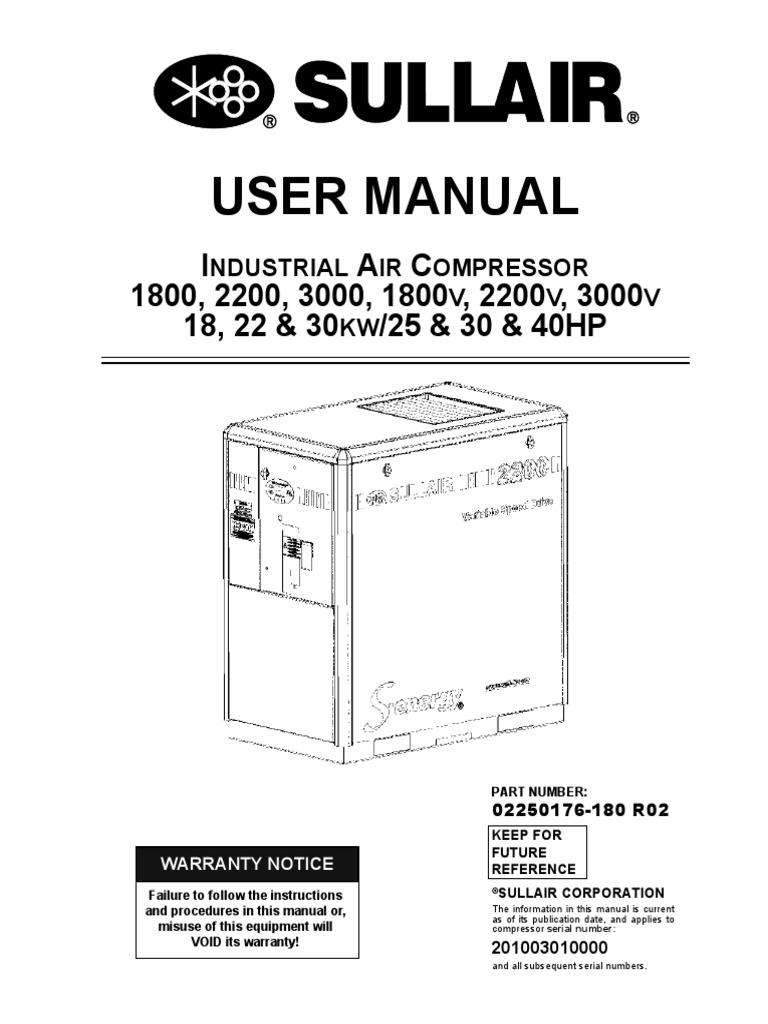 203739705 industrial air compressor sullair gas compressor valve rh scribd com sullair 185 engine operator's manual Sullair Compressor Parts
