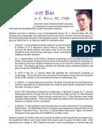 Bio of Dr Stephen E West