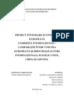 Comerțul Internațional - Comparație Între Uniunea Europeană Și Alți Actori Internaționali