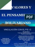 Presentación Del Proyecto Los Valores y El Pensamiento Bolivariano