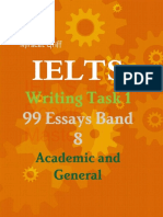 IELTS Writing Task 1 - 99 Essays Band 8 - Academic and General