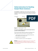 1181150 ELEMENT Safety Instructions Sample Waste Container Net