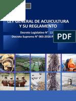 Ley General de Acuicultura y su Reglamento