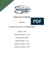 Montezuma County Employee Handbook 2016