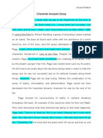 character analysis essay fd