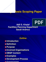 Adli Khalaf - Design Basis Scoping Paper