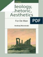 [Andrzej Warminski] Ideology, Rhetoric, Aesthetics