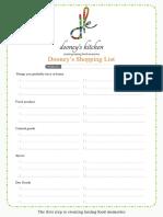 Dooneys Shopping List
