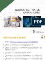 GESTACOP Sesión 9 Programa Maestro de Producción PMP