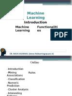 Machine learning functionalities