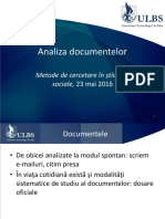 Analiza Documentelor 2016
