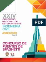 Bases Generales Del Concurso de Puentes de Spaguetti Coneic 2016 (1)