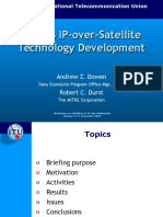 NASA's IP-over-Satellite Technology Development