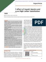 Effect of Gayatri Mantra on DLST