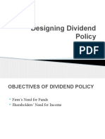 Designing Dividend Policy(1)