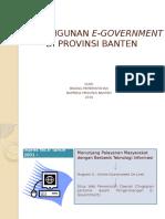 Sapras Dan Operasional E-Gov Banten