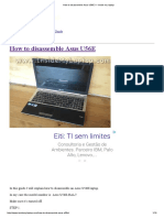 Guia para desmonte do Notebook Asus U56E