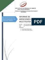 Informe de Mediciones de Multitester