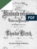 Hirsch Andante Piano Violin
