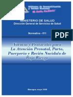 Normas y Protocolos para la Atencion Prenatal, Parto Puerperio y Recien Nacido de Bajo Riesgo.pdf