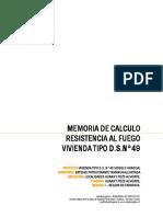 Memoria de Calculo - Resistencia Al Fuego Vivienda Tipo Dsn49 Modelo Gradual Revf