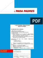 Instructivo. Esc. Para Padres. Abril