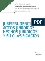 Jurisprudencia,Hechos Juridicos y Su Clasificacion, Actos Juridicos
