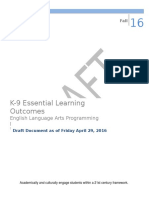k-9 essential learning outcomes program document