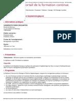 yeahq Imdsqdqplantologiques _ Chirurgie _ Médecine _ Formations _ Formation Continue Université Paris Descartes - Site de Formation Descartes