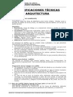 Especif.Técnicas - Arquitectura.doc