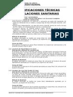 Especif.Técnicas - Instalaciones Sanitarias.doc
