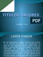 Los Títulos Valores.