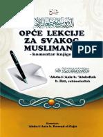 OPĆE LEKCIJE ZA SVAKOG MUSLIMANA (komentar knjige)   -   'Abdu-l-'Aziz b. Baz - komentar od