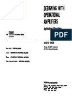 Designing With Operational Amplifiers