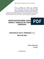 Investigación sobre Situación Hidrica de Honduras